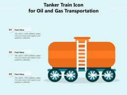 Tanker Train Icon For Oil And Gas Transportation