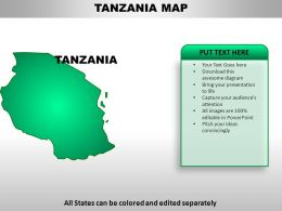 Tanzania Country Powerpoint Maps