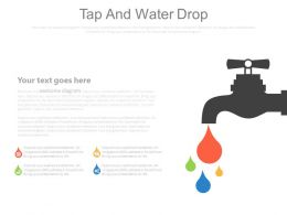 Tap And Water Drop Diagram For Data Powerpoint Slides