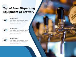 Tap Of Beer Dispensing Equipment At Brewery