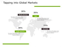 Tapping Into Global Markets Finance Planning Ppt Powerpoint Presentation Pictures Layout Ideas
