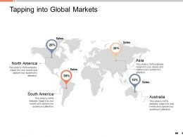 Tapping Into Global Markets Percentage Ppt Powerpoint Presentation Layouts Shapes