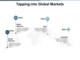 Tapping Into Global Markets Ppt Powerpoint Presentation Outline Graphics