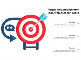 Target Accomplishment Icon With Archery Board