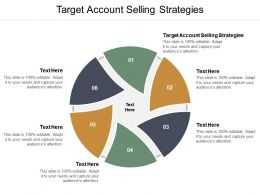 Target Account Selling Strategies Ppt Powerpoint Presentation Infographic Template Designs Download Cpb