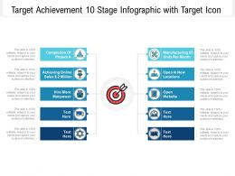 Target Achievement 10 Stage Infographic With Target Icon
