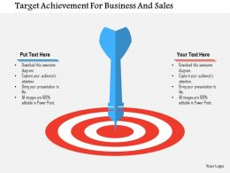 Target Achievement For Business And Sales Flat Powerpoint Design