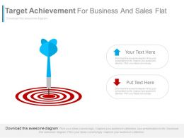Target Achievement For Business And Sales Powerpoint Slides