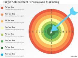 Target Achievement For Sales And Marketing Flat Powerpoint Design