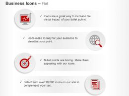 Target Achievement Global Search Monitor Ppt Icons Graphics
