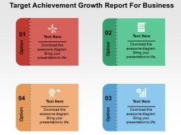 Target Achievement Growth Report For Business Flat Powerpoint Design