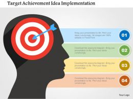 Target Achievement Idea Implementation Flat Powerpoint Design
