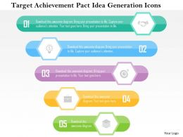 Target Achievement Pact Idea Generation Icons Flat Powerpoint Design