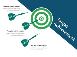 Target Achievement Powerpoint Slide Clipart