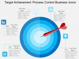 Target Achievement Process Control Business Icons Flat Powerpoint Design