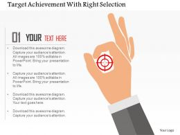 Target Achievement With Right Selection Flat Powerpoint Design