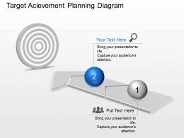 Target Acievement Planning Diagram Powerpoint Template Slide