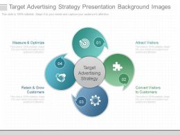Target Advertising Strategy Presentation Background Images
