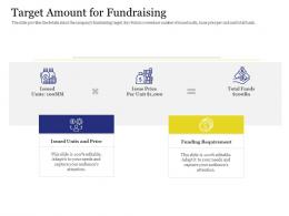 Target Amount For Fundraising Investment Pitch Presentation Raise Funds Cryptocurrency Ipo Ppt Grid