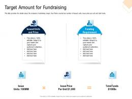 Target Amount For Fundraising Pitch Deck For Cryptocurrency Funding Ppt Icons