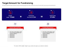 Target Amount For Fundraising Ppt Powerpoint Presentation Portfolio Graphics Template