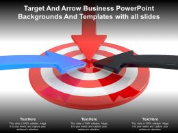 Target And Arrow Business Powerpoint Backgrounds And Templates With All Slides