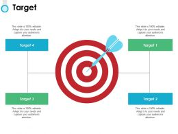 Target And Arrows F745 Ppt Powerpoint Presentation Ideas Graphics