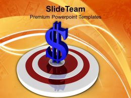 Target And Dollar Investment Business Powerpoint Templates Ppt Themes And Graphics 0213