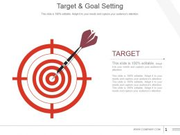 Target And Goal Setting Powerpoint Slide Template