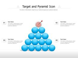 Target And Pyramid Icon