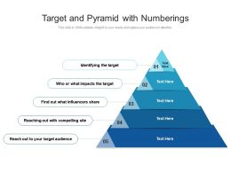 Target And Pyramid With Numberings