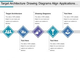 Target Architecture Drawing Diagrams Align Applications Business Function