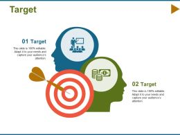 Target Arrow F469 Ppt Infographic Template Graphics Design