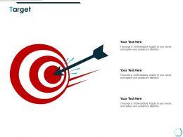 Target Arrow Focus K55 Ppt Powerpoint Presentation Deck
