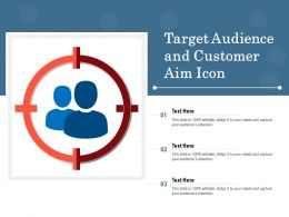 Target Audience And Customer Aim Icon