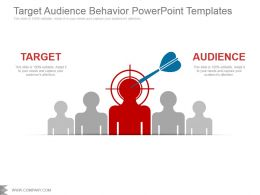 Target Audience Behavior Powerpoint Templates