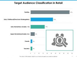 Target Audience Classification In Retail Ppt Portfolio Vector
