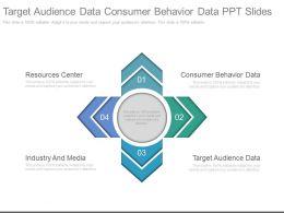 Target Audience Data Consumer Behavior Data Ppt Slide