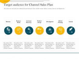 Target Audience For Channel Sales Plan Discovery Ppt Powerpoint Presentation Styles Icon