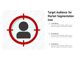 Target Audience For Market Segmentation Icon