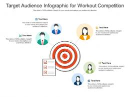 Target Audience For Workout Competition Infographic Template