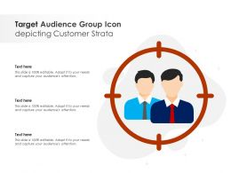 Target Audience Group Icon Depicting Customer Strata
