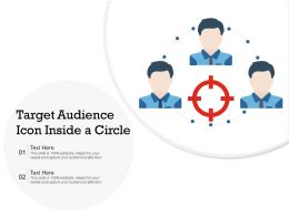 Target Audience Icon Inside A Circle