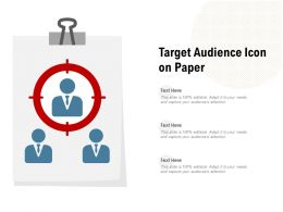 Target Audience Icon On Paper