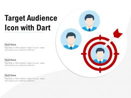 Target Audience Icon With Dart