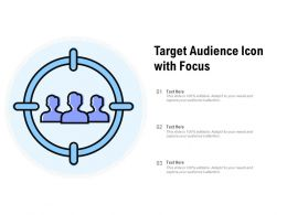 Target Audience Icon With Focus