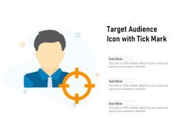 Target Audience Icon With Tick Mark