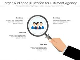 Target Audience Illustration For Fulfilment Agency Infographic Template