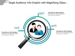 Target Audience Info Graphic With Magnifying Glass And Man And Woman Icon