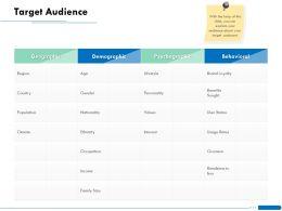 Target Audience L1867 Ppt Powerpoint Presentation Inspiration Slide